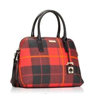 Kate Spade Woodland Plaid Red NWT Purse Bag